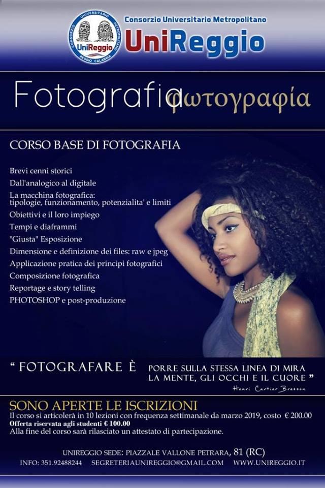 CORSO BASE DI FOTOGRAFIA: il programma