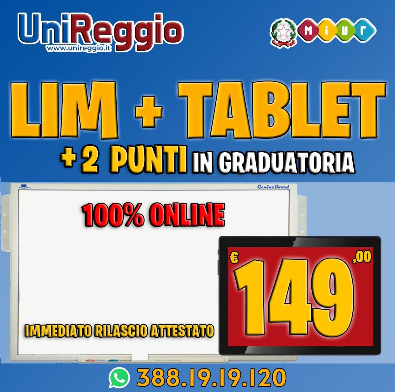 CORSO LIM 200 ORE + CORSO TABLET (+2,00 PUNTI)